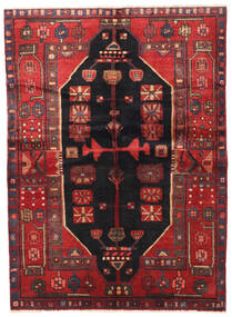 Nahavand Rug 140X190 Authentic  Oriental Handknotted Dark Red/Brown (Wool, Persia/Iran)