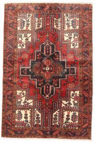 Heriz Vloerkleed 125X180 Echt Oosters Handgeknoopt Donkerblauw/Bruin (Wol, Perzië/Iran)