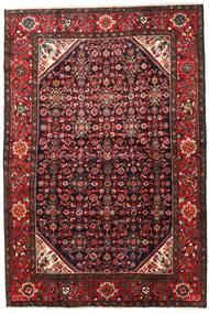 Hosseinabad Teppich 170X250 Echter Orientalischer Handgeknüpfter Schwartz/Dunkelrot (Wolle, Persien/Iran)