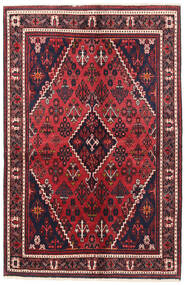 Joshaghan Rug 135X200 Authentic  Oriental Handknotted Black/Crimson Red (Wool, Persia/Iran)