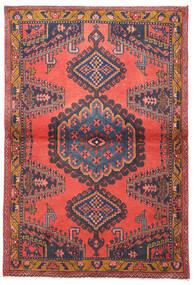 Wiss Tæppe 105X155 Ægte Orientalsk Håndknyttet Mørkerød/Mørkegrå/Rød (Uld, Persien/Iran)