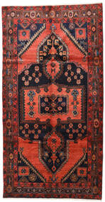 Lori Rug 155X300 Authentic  Oriental Handknotted Hallway Runner  Dark Red/Dark Brown (Wool, Persia/Iran)