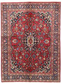 Meszhed Dywan 140X188 Orientalny Tkany Ręcznie Ciemnoczerwony/Ciemnobrązowy (Wełna, Persja/Iran)