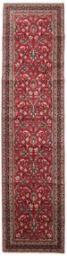Mashad Rug 98X395 Authentic  Oriental Handknotted Hallway Runner  Dark Red/Dark Brown (Wool, Persia/Iran)
