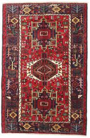 Heriz Matta 130X200 Äkta Orientalisk Handknuten Mörkbrun/Mörkröd (Ull, Persien/Iran)