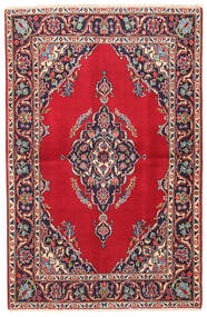 Keshan Rug 102X155 Authentic  Oriental Handknotted Crimson Red/Beige (Wool, Persia/Iran)