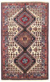 Yalameh Rug 103X170 Authentic  Oriental Handknotted Dark Purple/Dark Red (Wool, Persia/Iran)
