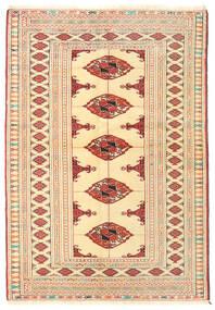 Turkaman Teppich  101X145 Echter Orientalischer Handgeknüpfter Beige (Wolle, Persien/Iran)