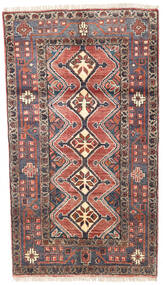 Hamadan Rug 93X165 Authentic  Oriental Handknotted Dark Blue/Brown (Wool, Persia/Iran)
