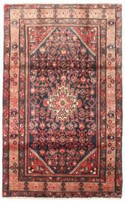 Hosseinabad Tapis 105X170 D'orient Fait Main Marron Foncé/Rouge Foncé (Laine, Perse/Iran)