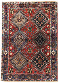 Yalameh Rug 115X162 Authentic  Oriental Handknotted Dark Brown/Dark Red (Wool, Persia/Iran)