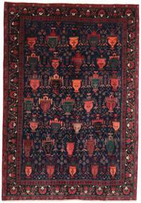 Afshar/Sirjan Teppe 194X275 Ekte Orientalsk Håndknyttet Svart/Mørk Brun (Ull, Persia/Iran)