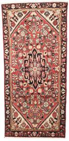 Hamadan Matta 100X206 Äkta Orientalisk Handknuten Mörkbrun/Brun (Ull, Persien/Iran)