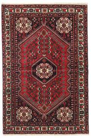 Abadeh Matto 100X150 Itämainen Käsinsolmittu Musta/Tummanpunainen (Villa, Persia/Iran)