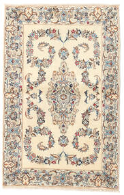 Yazd Rug 93X143 Authentic  Oriental Handknotted Beige/Light Grey (Wool, Persia/Iran)