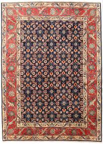 Koliai Matta 200X268 Äkta Orientalisk Handknuten Mörkröd/Mörkgrå (Ull, Persien/Iran)