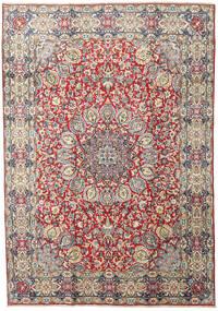 Kerman Teppich  212X305 Echter Orientalischer Handgeknüpfter Dunkelgrau/Braun (Wolle, Persien/Iran)