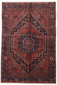 Zanjan Rug 138X207 Authentic  Oriental Handknotted Dark Red/Brown (Wool, Persia/Iran)