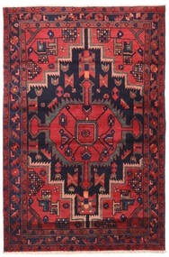 Nahavand Rug 110X163 Authentic  Oriental Handknotted Black/Crimson Red (Wool, Persia/Iran)