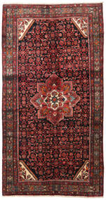 Hosseinabad Rug 140X266 Authentic  Oriental Handknotted Dark Red/Black (Wool, Persia/Iran)