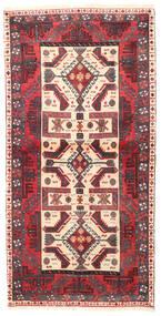 Belutsch Teppich  83X165 Echter Orientalischer Handgeknüpfter Läufer Dunkelrot/Rost/Rot (Wolle, Persien/Iran)