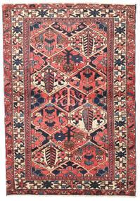 Bachtiar Teppich  107X156 Echter Orientalischer Handgeknüpfter Dunkellila/Dunkel Beige (Wolle, Persien/Iran)