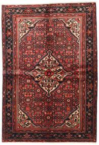 Hosseinabad Teppich 153X224 Echter Orientalischer Handgeknüpfter Dunkelrot/Dunkelbraun (Wolle, Persien/Iran)