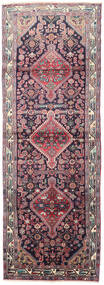Mehraban Rug 107X307 Authentic  Oriental Handknotted Hallway Runner  Dark Purple/Light Purple (Wool, Persia/Iran)
