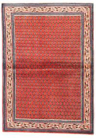 Sarough Mir Teppe 108X155 Ekte Orientalsk Håndknyttet Mørk Rød/Rød (Ull, Persia/Iran)