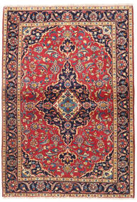 Keshan Rug 107X155 Authentic  Oriental Handknotted Dark Red/Dark Purple (Wool, Persia/Iran)