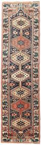 Yalameh Teppich  90X322 Echter Orientalischer Handgeknüpfter Läufer Schwartz/Braun (Wolle, Persien/Iran)