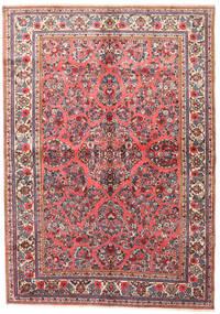 Sarough Matta 165X230 Äkta Orientalisk Handknuten Ljusrosa/Brun (Ull, Persien/Iran)