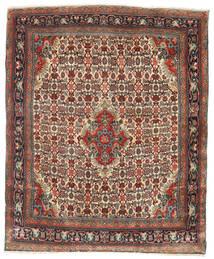 Bijar Tapete 112X137 Oriental Feito A Mão Castanho Claro/Castanho Escuro (Lã, Pérsia/Irão)