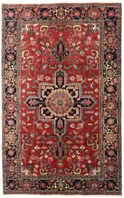 Heriz Matta 175X280 Äkta Orientalisk Handknuten Mörkröd/Roströd (Ull, Persien/Iran)