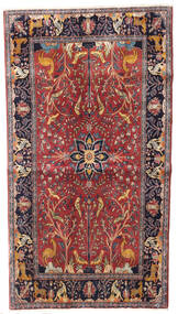 Keshan Rug 100X183 Authentic  Oriental Handknotted Dark Red/Dark Purple (Wool, Persia/Iran)