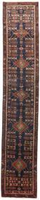 Heriz Matto 73X400 Itämainen Käsinsolmittu Käytävämatto Musta/Tummanpunainen (Villa, Persia/Iran)