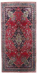 Kashmar Matto 100X205 Itämainen Käsinsolmittu Tummanharmaa/Tummanpunainen (Villa, Persia/Iran)