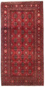 Baluch Rug 105X205 Authentic  Oriental Handknotted Dark Red/Crimson Red (Wool, Persia/Iran)