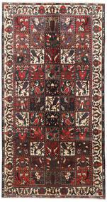 Bachtiar Teppich  155X290 Echter Orientalischer Handgeknüpfter Läufer Dunkelbraun/Dunkelrot (Wolle, Persien/Iran)