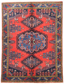 Wiss Rug 157X210 Authentic  Oriental Handknotted Dark Purple/Orange (Wool, Persia/Iran)