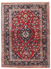 Keshan Rug 96X132 Authentic  Oriental Handknotted Dark Purple/Dark Red (Wool, Persia/Iran)