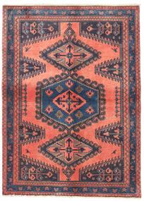 Wiss Teppich  112X154 Echter Orientalischer Handgeknüpfter Dunkelgrau/Dunkelrot (Wolle, Persien/Iran)