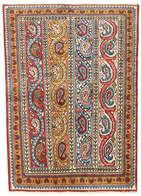 Najafabad Rug 114X159 Authentic  Oriental Handknotted Dark Brown/Beige (Wool, Persia/Iran)