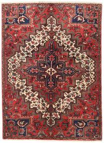 Heriz Teppich  137X187 Echter Orientalischer Handgeknüpfter Dunkelrot/Braun (Wolle, Persien/Iran)