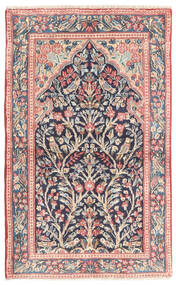 Kerman Rug 83X135 Authentic  Oriental Handknotted Dark Grey/Beige (Wool, Persia/Iran)