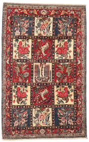 Bakhtiari Rug 107X168 Authentic Oriental Handknotted Dark Brown/Beige (Wool, Persia/Iran)