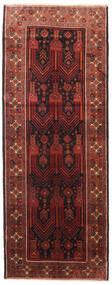 Baluch Rug 112X290 Authentic  Oriental Handknotted Hallway Runner  Dark Red/Black (Wool, Persia/Iran)