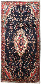 Mehraban Rug 160X330 Authentic  Oriental Handknotted Hallway Runner  Dark Blue/Dark Red (Wool, Persia/Iran)