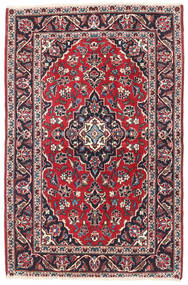 Keshan Rug 95X150 Authentic  Oriental Handknotted Dark Purple/Beige (Wool, Persia/Iran)