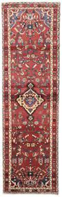 Hamadan Rug 92X305 Authentic  Oriental Handknotted Hallway Runner  Dark Red/Rust Red (Wool, Persia/Iran)